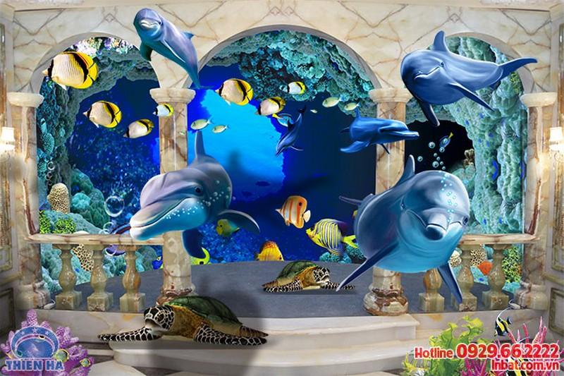 In tranh gạch 3D hoạt hình trang trí phòng trẻ em siêu rẻ